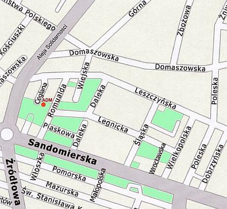Sandomierskie mapa